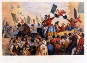 L'ingresso di Garibaldi a Napoli, accompagnato da Liborio Romano
