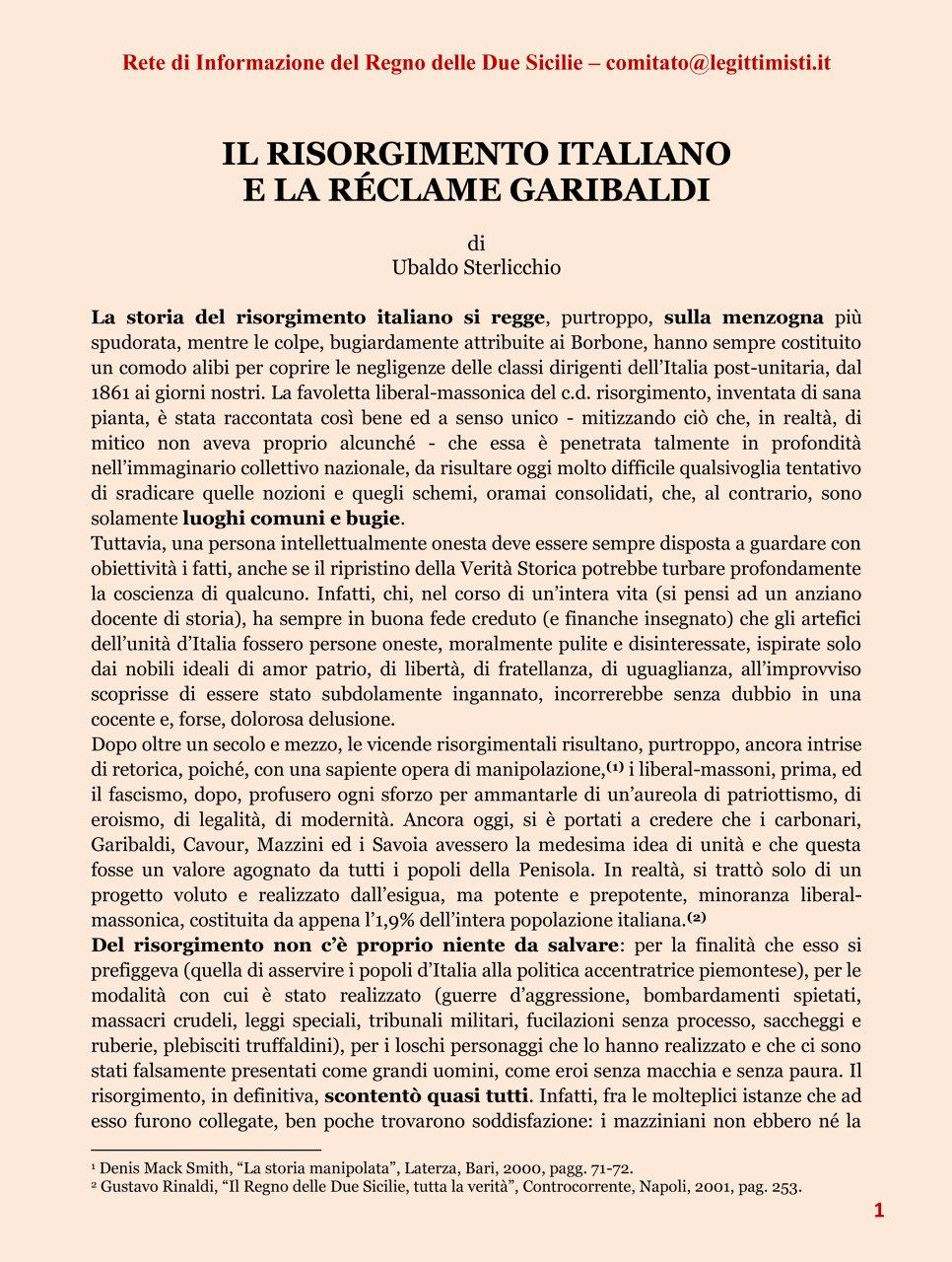 Il risorgimento italiano e la réclame Garibaldi 1#001