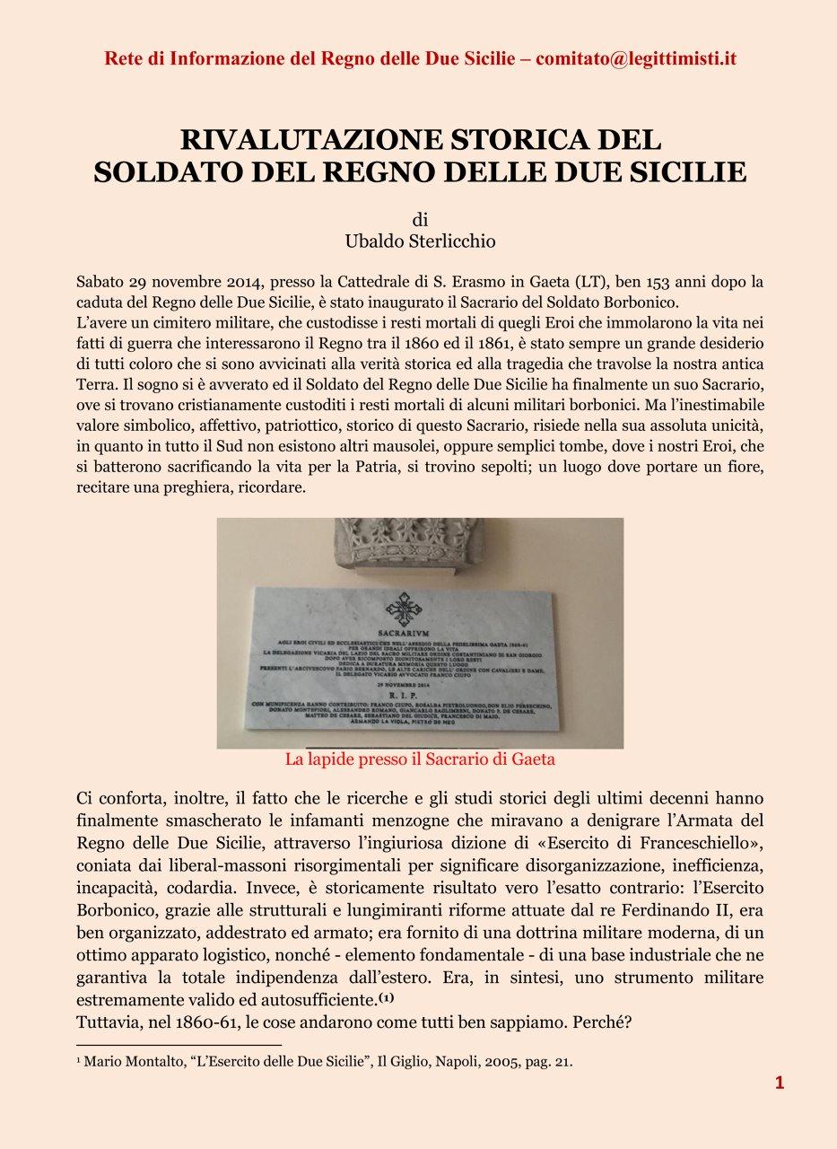 RIVALUTAZIONE STORICA DEL SOLDATO 1#001