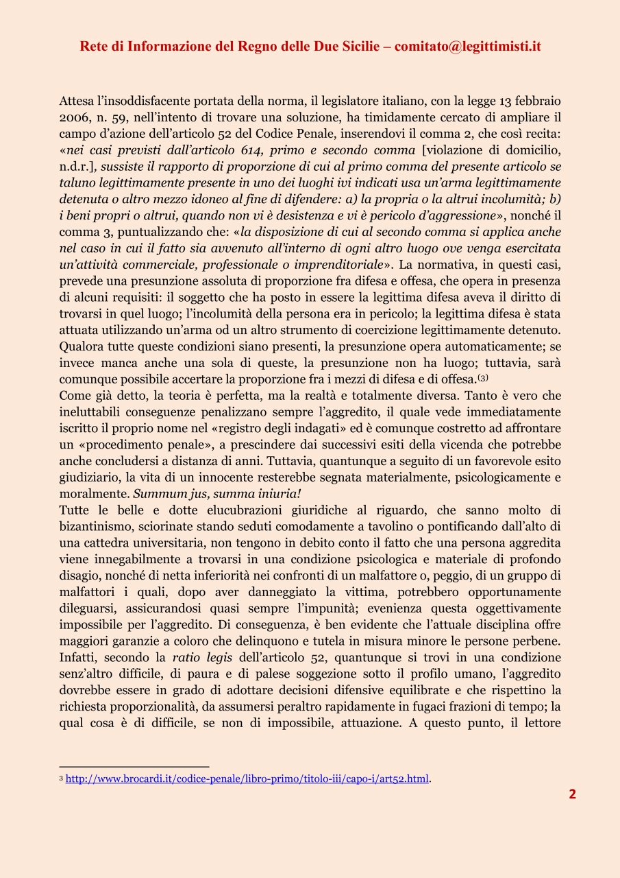 LA LEGITTIMA DIFESA 2#001