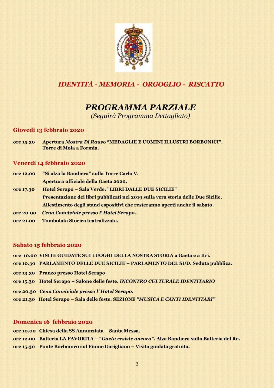 A Gaeta - Programma parziale 2#001